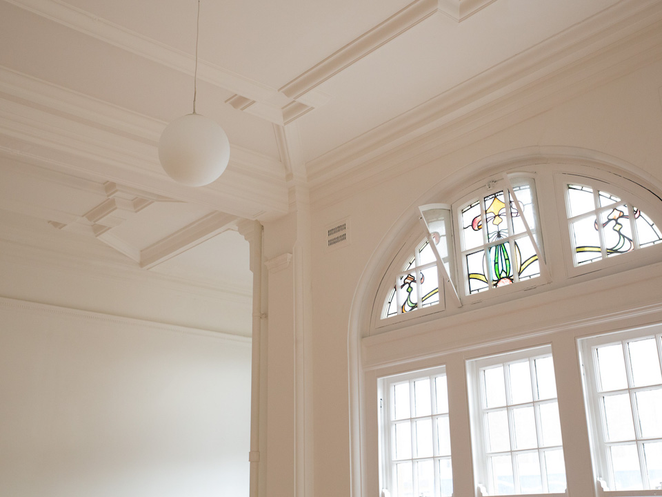 Old Manor Park Library interior detail. Image by Emil Charlaff